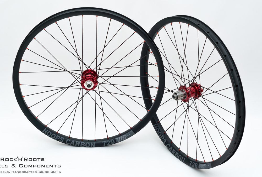 "27.5"" Hoops Carbon 729 / Chris King ISO mit Stahl Freilauf / Sapim CX-Ray / 1780g"